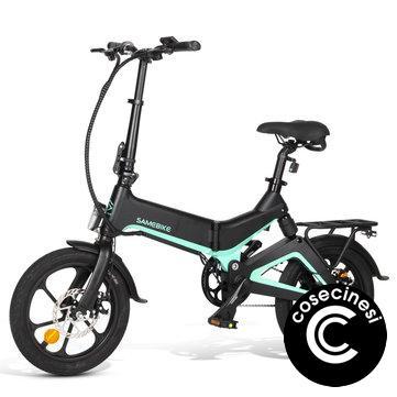 [EU Direct] Samebike JG7186 36V 250W 7.5Ah 16inch Smart Folding Electric Moped Bike 25km/h Top Speed 65km Mileage Range E-bike Max load 120kg EU Plug