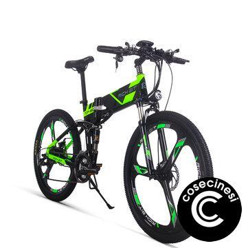 [EU Direct] RICH BIT TOP-860 12.8AH 36V 250W 26inch Folding Moped Electric Bike 35km/h Top Speed 35-40km/h Mileage Range Cycling Mountain Bicycle