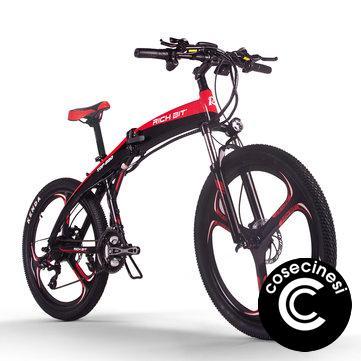 [EU Direct] RICH BIT TOP-880 250W 36V 9.6Ah 26inch Folding Moped Electric Bike Hydraulic Disc Brake 35km/h Top Speed 38-42 Mileage Range Mountain Bike