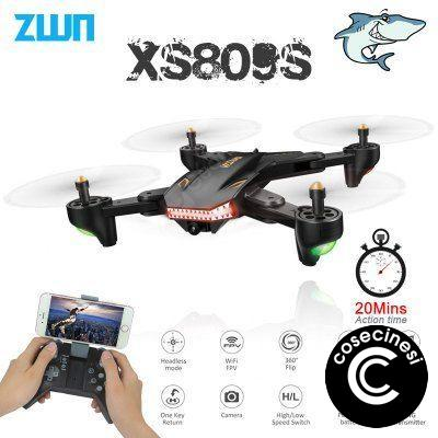 VISUO XS809S Foldable Selfie Drone with 0.3MP 2MP HD Camera Quadcopter WiFi FPV RC Helicopter