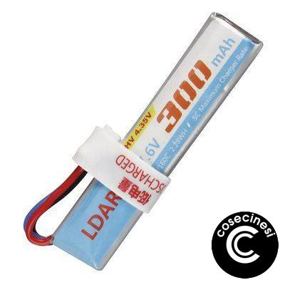 LDARC 2S 7.6V 300mAh 80C / 160C HV 4.35V Lipo Battery with XH 2.54 Balance Plug for RC Drone FPV Racing