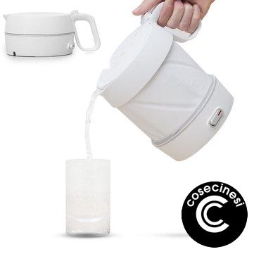 Coupon HL 600W  1L Folding Electric Kettle Handheld Instant Heating Electric Water Kettle Protection