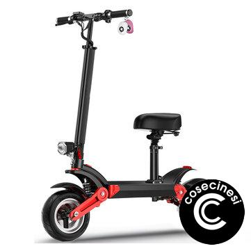 Coupon MACWHEEL M30 23Ah 48V 500W Dual Motor Folding Electric Scooter With Saddle Color Display 35km h Top Speed 150km Mileage Range 150KG Bearing
