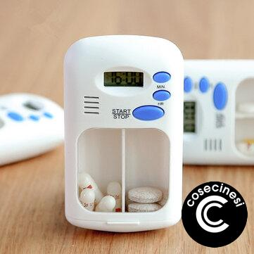 Coupon Mini Portable Pill Reminder Drug Alarm Timer Electronic Box Organizer LED Display Alarm Clock Remind