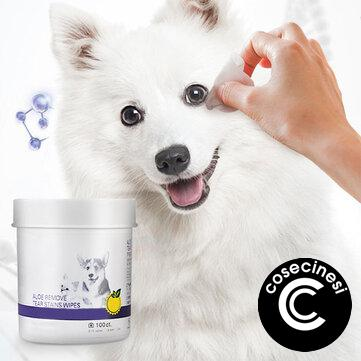 100Pcs/Set Pet Eye Wet Wipes Dental/Eye/Ears Breath Cleaner Wipes For Dog Stop Itching Gentle Cleaning Keep Hygiene Clean Supplies