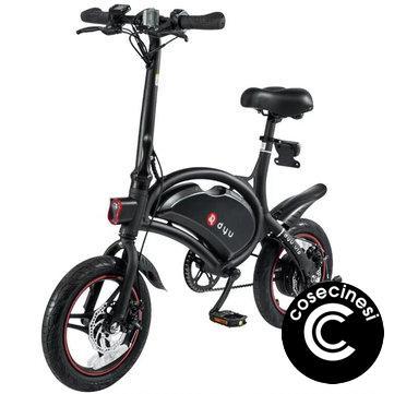 Coupon F wheel DYU D3 250W 36V Folding Electric Bike Aluminum Alloy EU Plug 14 Inch Wheel Tire Max 50KM