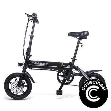 Coupon Samebike YINYU14 36V 250W Smart Bicycle 36V 7.5Ah Folding Moped Electric Bike E bike EU Plug Cycling Xiaomi