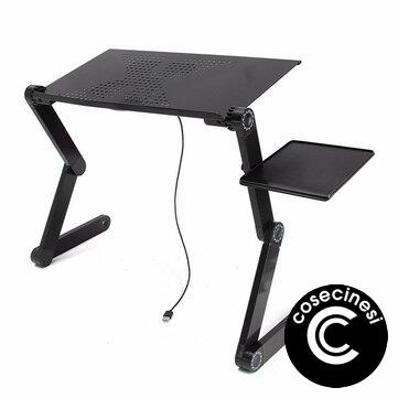 Coupon $32.99 for Portable Adjustable Foldable Laptop Notebook PC Desk Table Vented Stand Bed Tray