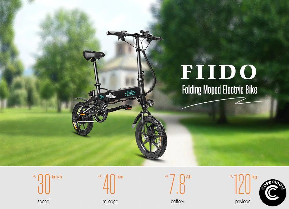 Coupon FIIDO D1 Folding Electric Bike [7.8AH BATTERY]