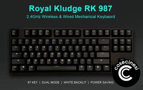 Coupon  Royal Kludge RK 987 Dual Mechanical Gaming Keyboard Banggood
