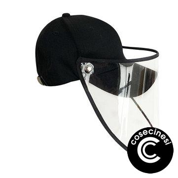 Female Male Protective Hat Cover Foldable Anti-Fog Prevent Droplets Baseball Caps Hat From Spreading Removable PVC Mask Protective Cap