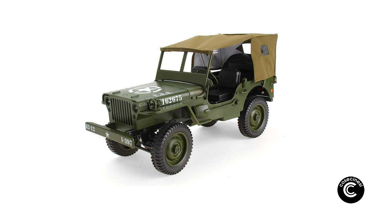 Codice sconto coupon  JJRC Q65 Jedi 1/10 Military Truck With Canopy LED Light