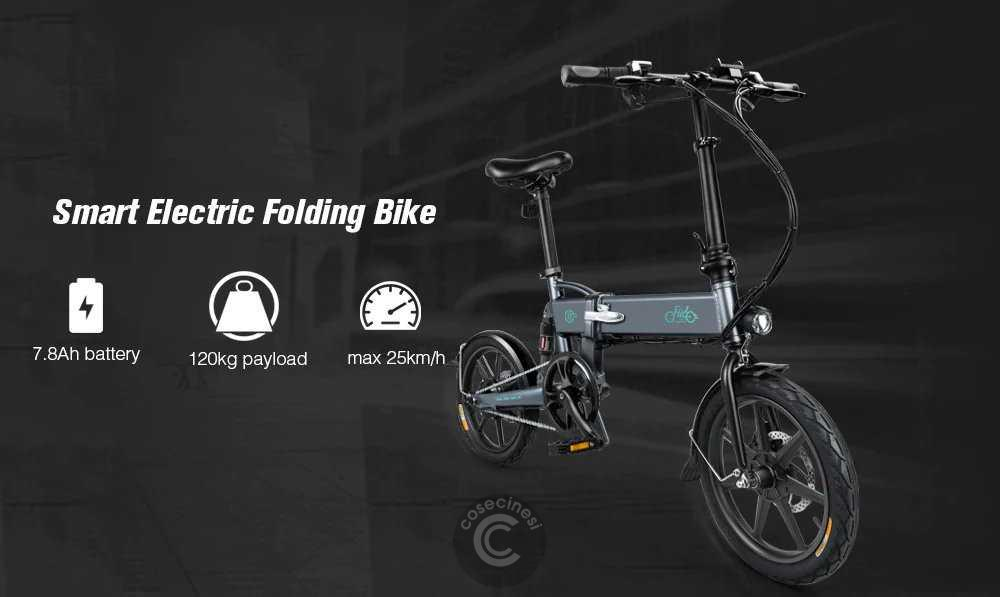 Codice sconto coupon  FIIDO D2 Folding Moped Electric Bike E-bike Banggood Coupon [UK Warehouse]