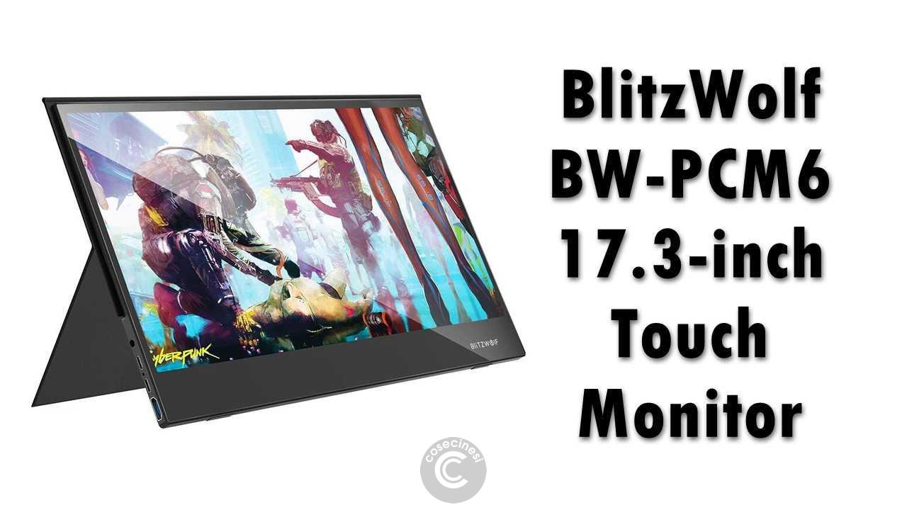 Codice sconto coupon  BlitzWolf BW-PCM6 17.3 Inch Touchable Monitor