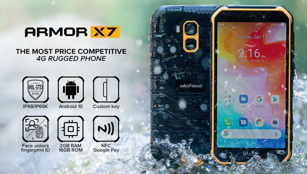 Codice sconto coupon  Ulefone Armor X7 [2+16GB] [Spain Warehouse]