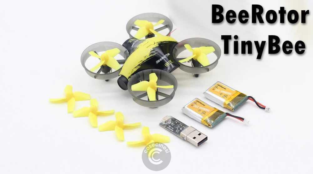 Codice sconto coupon  BeeRotor TinyBee Micro FPV Coreless RC Drone [2 Batteries]