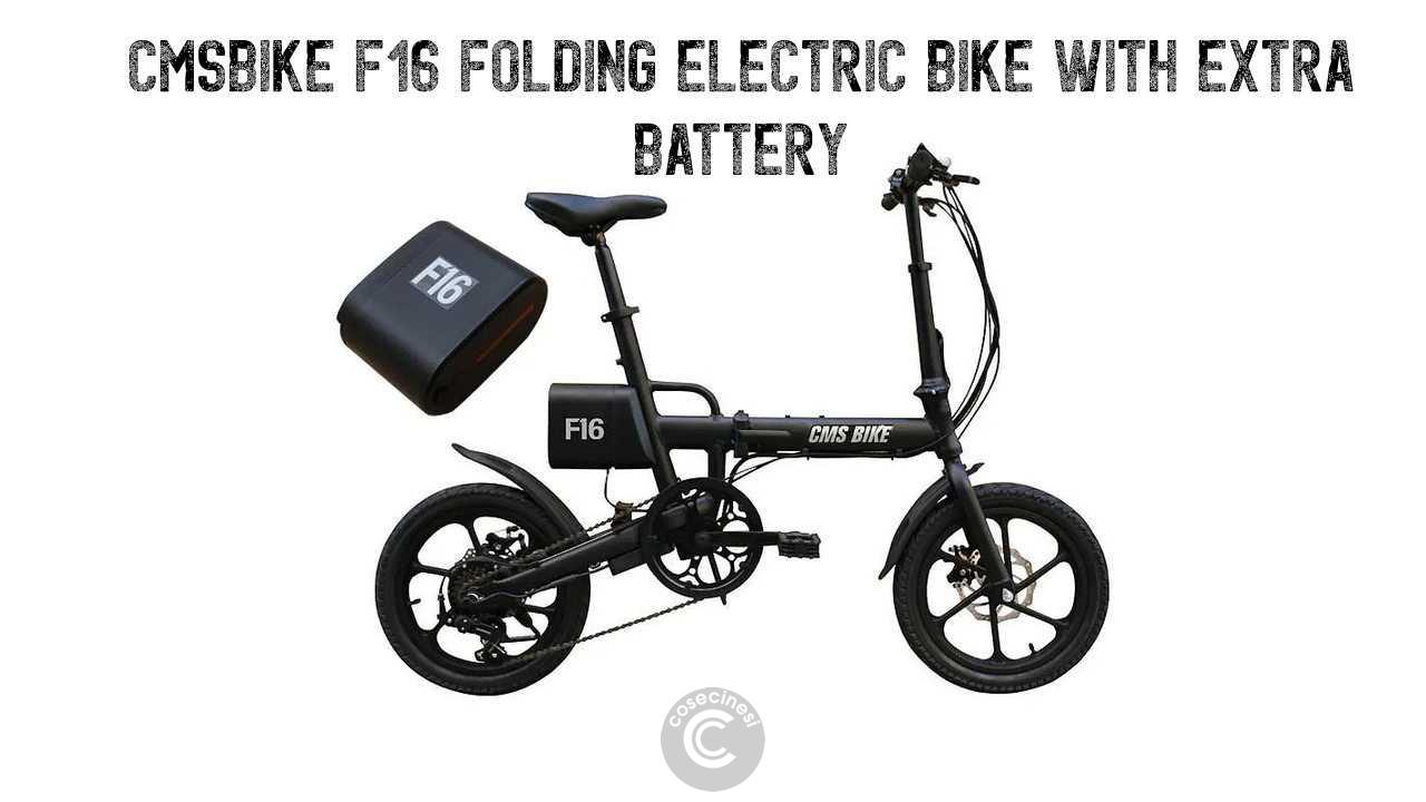 Codice sconto coupon  CMSBIKE F16 Folding Electric Bike with Extra Battery