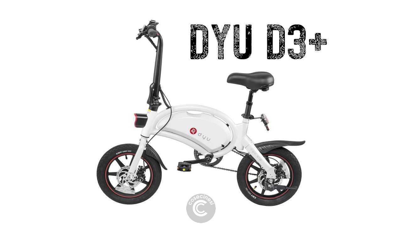 Codice sconto coupon  DYU D3+ Folding Moped Electric Bike [White] [UK Warehouse]