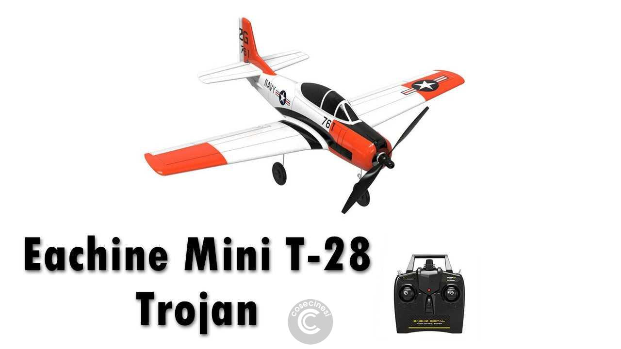 Codice sconto coupon  Eachine Mini T-28 Trojan RC Airplane [2/3 Batteries]