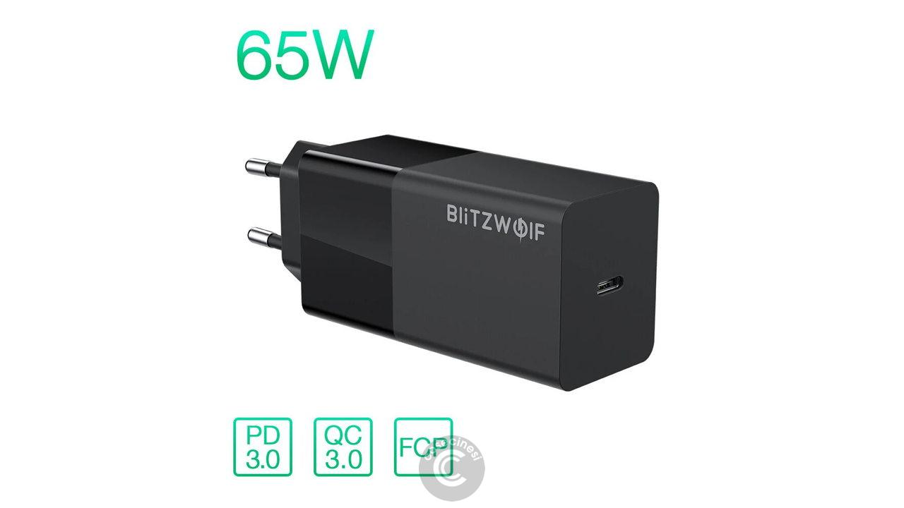 Codice sconto coupon BlitzWolf BW-S17 Type-C 65W Charger